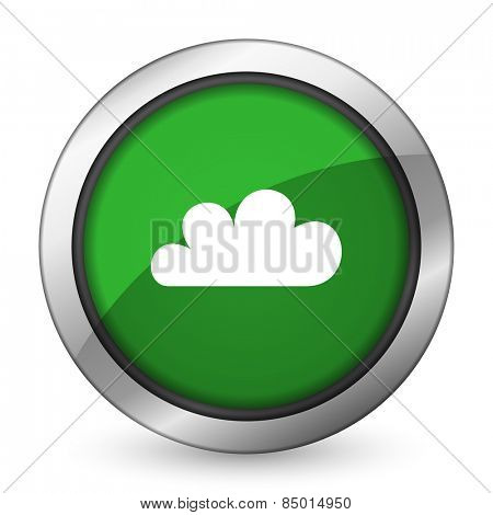 cloud green icon waether forecast sign