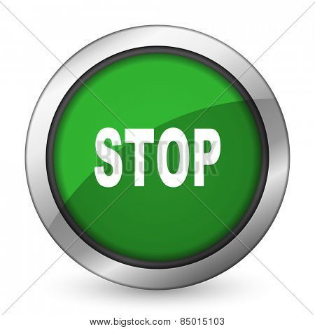 stop green icon