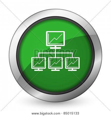 network green icon lan sign