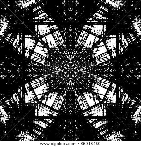 art sketched naive ornamental black pattern isolated on white background, s.7