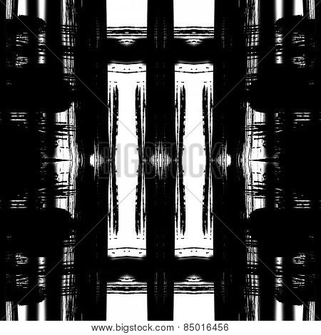 art sketched naive ornamental black pattern isolated on white background, s.1