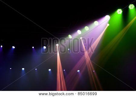 Stage Lights On Concert.