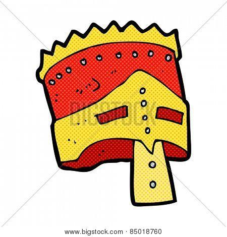 retro comic book style cartoon king's armor