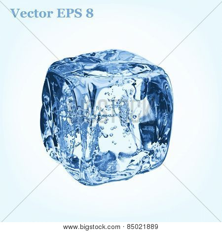Ice cube, vector EPS 8