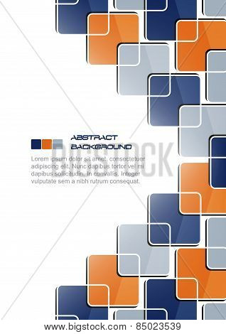 Abstract vector background with colored rectangular pattern