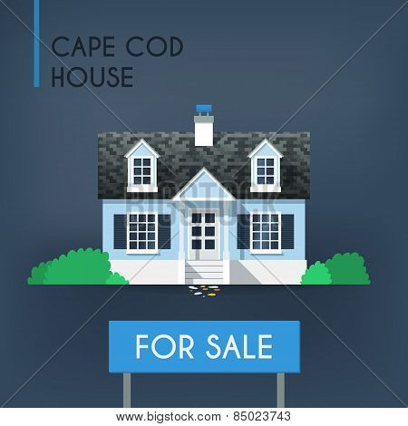 Blue Cape Cod Country House