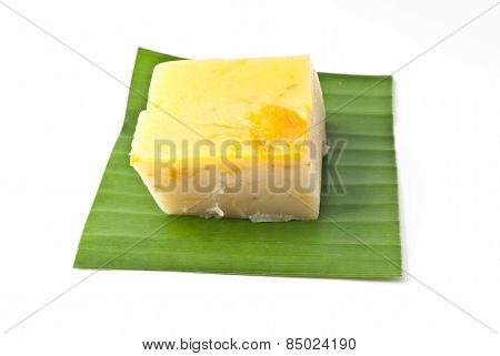 Coconut Custard Made From Eggs And Coconut Milk,  Traditional Thai Dessert
