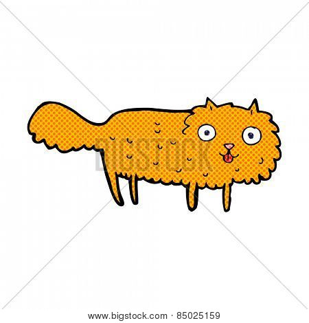 retro comic book style cartoon furry cat