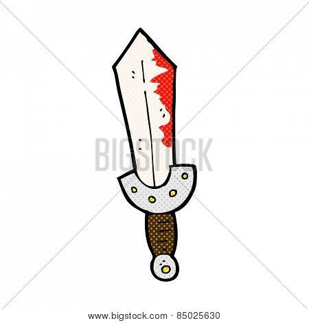 retro comic book style cartoon viking sword