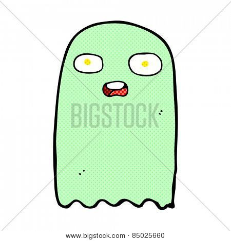 funny retro comic book style cartoon ghost