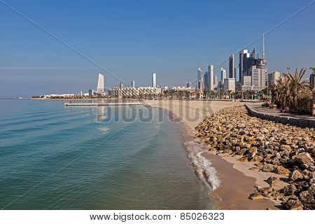 Arabian Gulf Beach in Kuwait