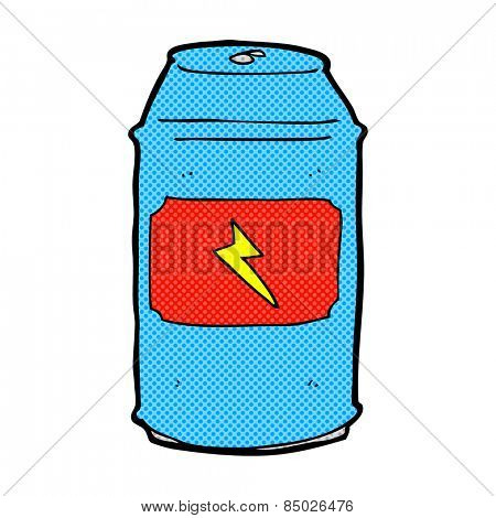 retro comic book style cartoon beer can