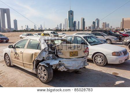 Broken Car In Kuwait City