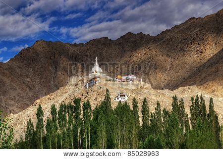 Shanti Stupa, Ladakh, Jammu And Kashmir, India