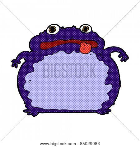 retro comic book style cartoon funny frog