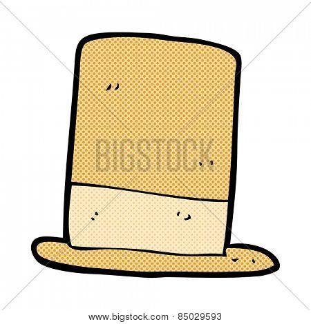 retro comic book style cartoon old hat