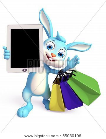 Easter Bunny With Tab And Shopping Bag