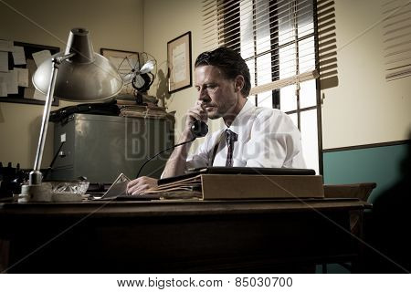 1950S Office: Director On The Phone