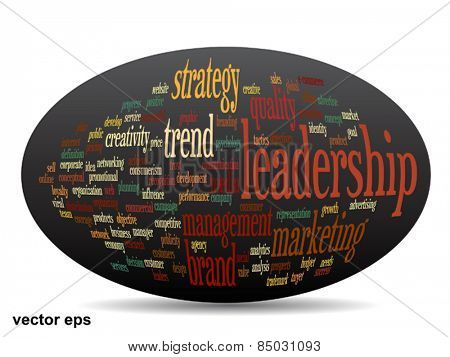 Vector concept or conceptual 3D oval or ellipse abstract word cloud on black background, metaphor for business, trend, media, focus, market, value, product, advertising, customer, corporate wordcloud