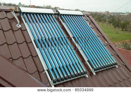 Vacuum Solar Water Heating System