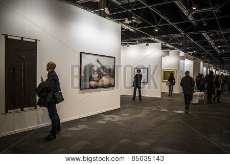 MADRID, SPAIN - 25 FEBRUARY 2015. ARCO, the International Contemporary Art Fair in Madrid, Spain