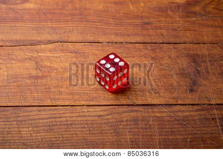 Dice with six dots each side