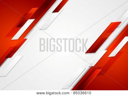 Red and white shiny hi-tech motion background. Vector design