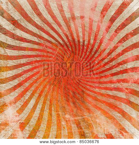 vintage abstract sun's rays on the wall grunge