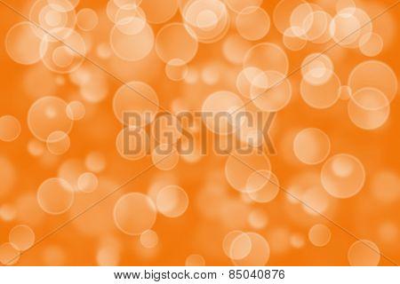 orange circle shape boke background