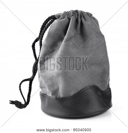 Camera bag isolated on white