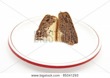 Fresh Baked Marble Cake on Plate