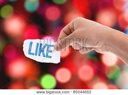 Like piece of paper with bokeh background