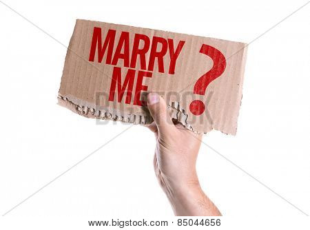 Marry Me? card isolated on white background