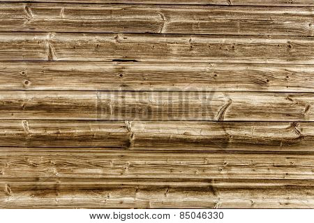 a wooden wall of old boards built. concept photo for background