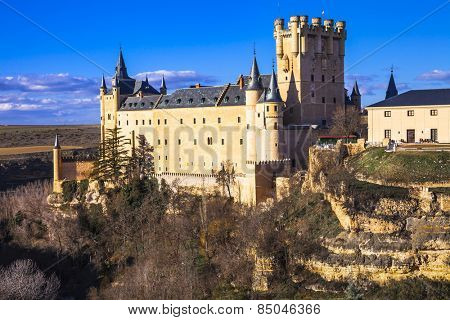 impressive Alcazar castle in Segovia, Spain