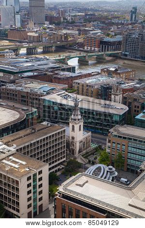 LONDON, UK - AUGUST 9, 2014 London view. City of London one of the leading centres of global financ