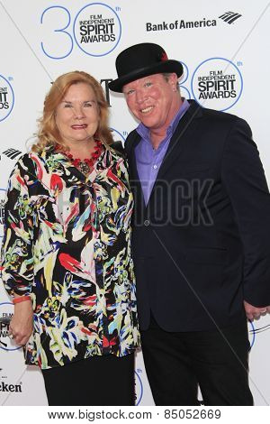 SANTA MONICA - FEB 21: Anne O'Shea, Brian Quattrini at the 2015 Film Independent Spirit Awards on February 21, 2015 in Santa Monica, California