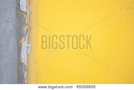 Yellow concrete wall background texture