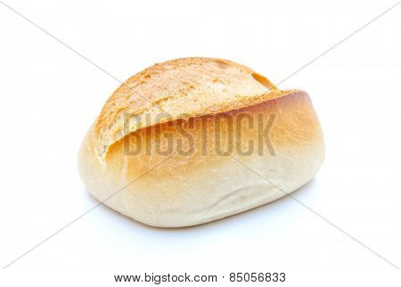 Freshly baked roll. All on white background