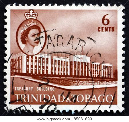 Postage Stamp Trinidad And Tobago 1960 Treasury Building