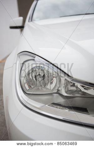 Close up on headlight