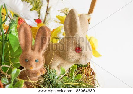 Pair of Easter rabbits