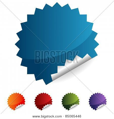 An image of a label button icon set.