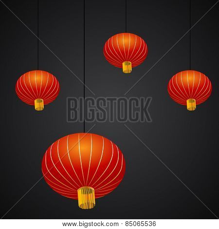 An image of a Chinese New Year lantern background.