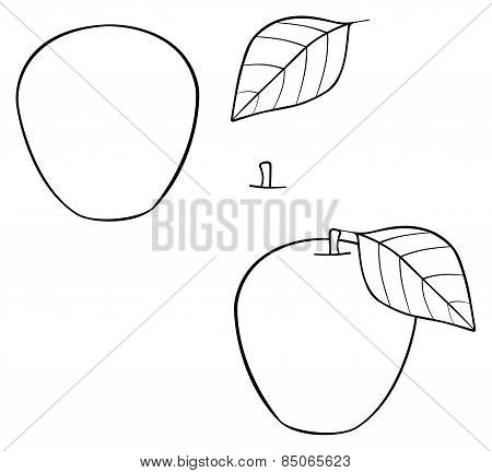 Delightful Garden - Nice Construct Apple With A Leaf