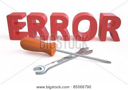 Error Repairs Concept