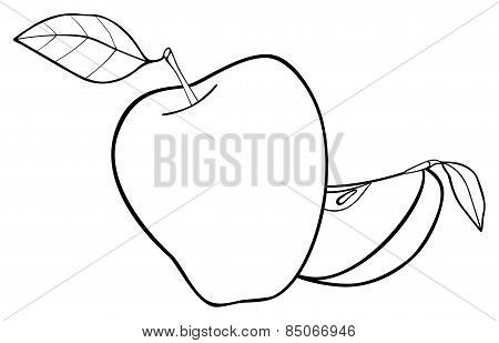 Delightful Garden - Set Of An Apple With Two Leaves And A Slice 1