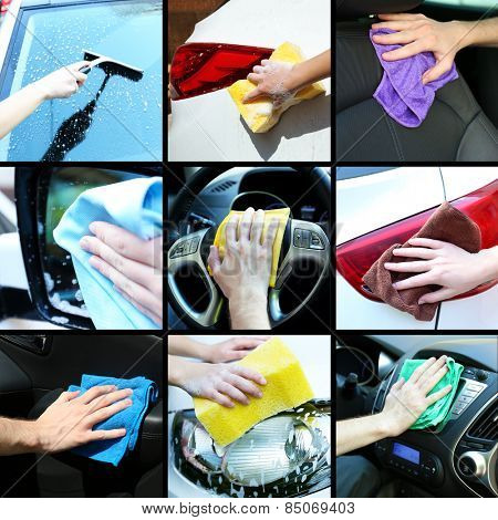 Car-wash collage