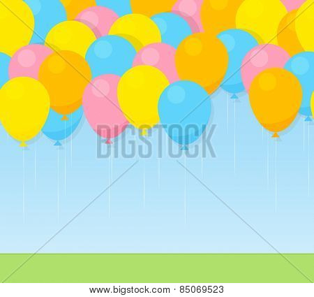 Colorful balloons. seamless pattern