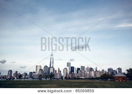 Panorama of Lower Manhattan in New York